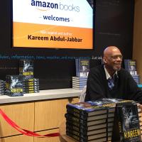 Book signing: Kareem Abdul-Jabbar at Amazon Books Bellevue Square.