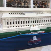 Photography: The Lego Americana Roadshow in Bellevue Square.